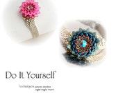 step by step INSTANT download Pdf beading PATTERN Bracelet #16