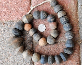 Antique Mali Clay Beads