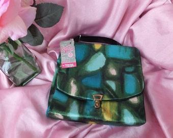 Vintage Travel Case by Trina, Ladies Travel or Makeup Case Travel Bag