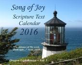 2016 Oregon Lighthouses w/KJV Texts Photo Wall Calendar~Only 12.00!