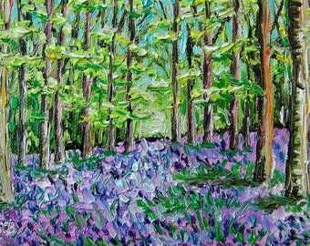 Bluebell Forest III, 7 x 10 in., giclee print