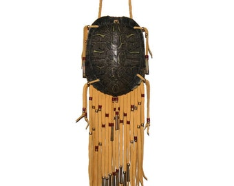 Medicine bag red ear turtle shell pouch mountain man native american style