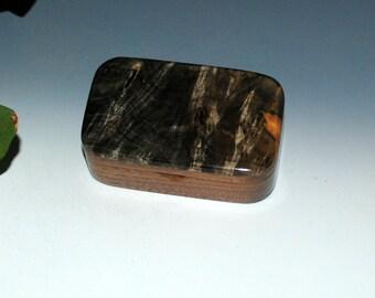 Buckeye Burl on Walnut Handmade Wooden Trinket Box - Desk Box, Gift Box, Business Card Box - Handmade Jewelry Box by BurlWoodBox - Small Box