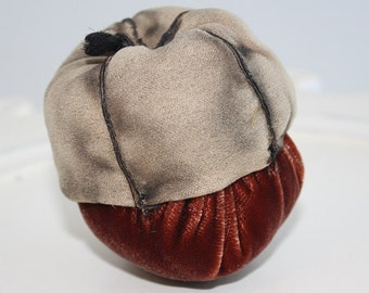Plush Velvet Handmade Acorn Decoration - Rust