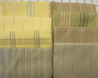 8 fat quarters yarn dyed yellow green tan