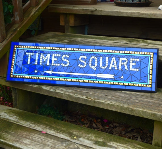 New York City Subway Mosaic Sign / Plaque - Times Square Replica  - NYC