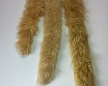 "Camel Faux Fur Tail - One Tan Faux Fur Tail - sizes 12"" , 19"" or 22""  - Clip on Fur Tail - Great Christmas Gift for a wild child of any age"
