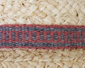 Hatband, Handwoven from Naturally Hand Dyed Wool
