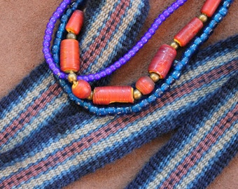 Handwoven Wool Strap For Historic Costume or Modern Times
