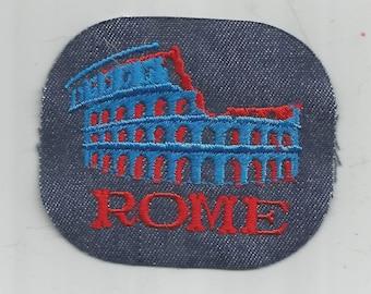 Rome Italy Colosseum Authentic Retro Vintage 1970's Sewing Patch Applique