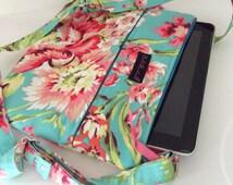 Dollbirdies IPad Bag, Technical Tote, Reader Pouch, Tablet Pouch, Kindle Purse, Travel Purse, Shoulder Bag