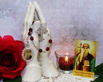 LIMITED EDITION Unbreakable Chaplet of St. Olga of Kiev - Patron Saint of Widows and Converts