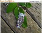 ON SALE Sterling silver necklace with amethyst and peridot