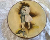 Kissing Couple Howard Chandler Christy Cake Tin Vintage at Quilted Nest