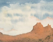 Arches National Park Painting Utah Painting Utah Art Original Watercolor of Utah Landscape