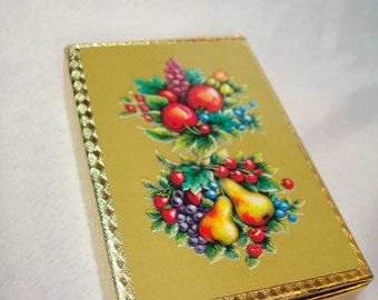 1950s CROWN Plastic Coated Playing Cards with Fruit.