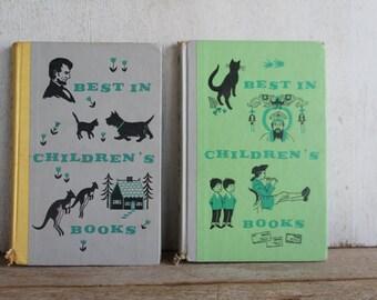 """Set of 2 Children's Literature Books // """"Best in Children's Books"""" // Copyright 1957 & 1959"""