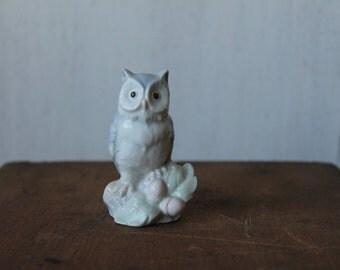 Vintage Owl Figurine // Collectible Owl
