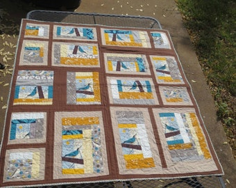 Handmade baby quilt or wall hanging