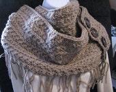 Hand crochet infinity scarf