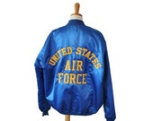 BLOWOUT 40% off sale Vintage 80s United States Air Force Jacket - Embroidered - Men XL long - Game Sportswear, Made in America