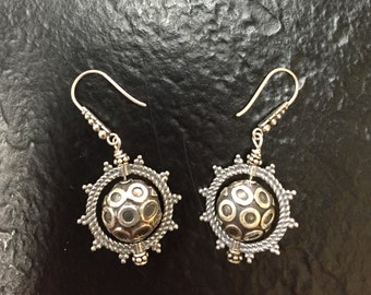 Oxidized Sterling Dangles