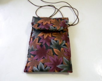 Autumn Leaves Passport Bag