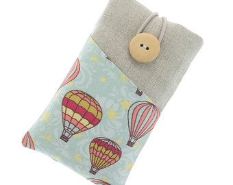 iPhone 6 Plus case, iPhone 6 fabric case, Galaxy S5 sleeve, HTC pouch, iPod fabric case, iPhone 7 / 7 Plus case, iPhone 5, cute air balloons