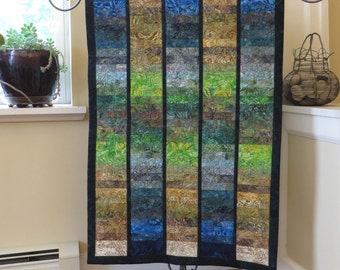 Contemporary Quilted Batik Wall Hanging