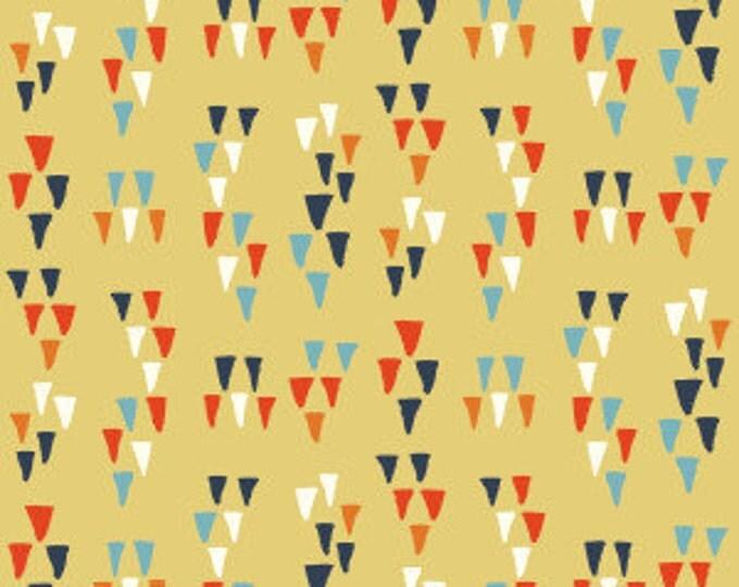 Organic Cotton Fabric - Birch Wildland Poplin - Arrowhead Sun