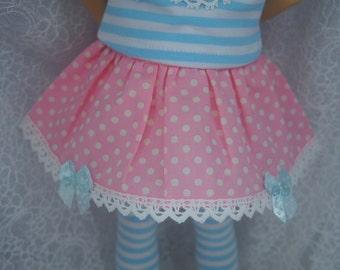 Mini Dollfie Dream MDD Super Dollfie MSD Pink Dot Skirt