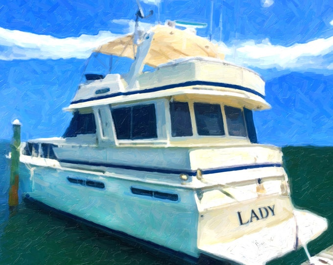 Custom Boat Oil Painting Canvas Decoration Wall Art 12x16
