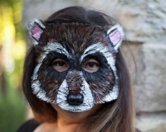 Rocket Raccoon Inspired Mask, rocket raccoon costume, adult costume, adult size, animal mask, animal costume, guardians of the galaxy 2