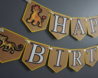 The Lion Guard Birthday Banner