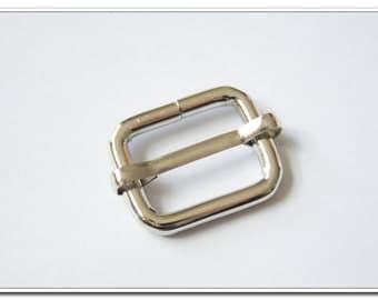 10 PIECES, 2cm,  nickel Moveable Bar Slide,  Strap Adjuster Slider