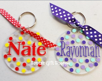 Personalized  Key Chain - Luggage Tags - School Backpack - Monogrammed Name or Initial - Summer  -Vacation -Acrylic-Back to School-Sweet 16