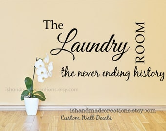 Laundry vinyl wall decals Laundry room wall decals vynil custom colors funny wall decals