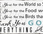 Custom Listing for hapigolkygirl2 - Thank You for the Food We Eat  Blessing Sign