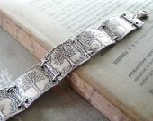 Seasons No. 4, Fine Silver and Sterling Bracelet, Seasons of Life, Handmade Artisan Original by SilverWishes
