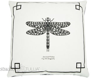 DRAGONFLY Pillow Cover - 20 inch - decorative pillow cover - The Bug Chicks Collection - ready to ship