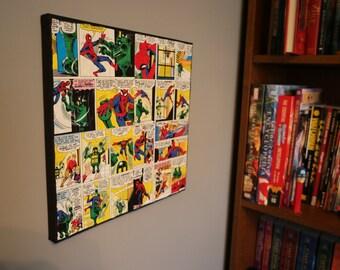 "Marvel Spiderman 12"" x 12"" Canvas Wall Art"
