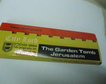 Vintage The Garden Tomb Jerusalem 12 Color Slides Printed On Kodak Film by Jerusalem, collectable