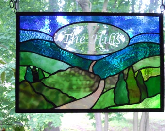 Custom, Personalized Stained Glass Panel