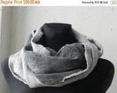 ON SALE Felted scarf, wool silk scarf, felt scarf, woman scarf, soft wool scarf, merino wool scarf, GIFT Idea