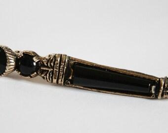 Vintage Scottish dirk brooch. Miracle brooch. Black dagger brooch