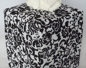 "Ready To Ship - ""BLACK AND  WHITE "" -  Tissue Box Cover"