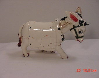 Vintage Bobblehead Donkey Or Mule Figurine   16  - 64