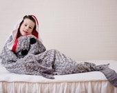Shark Sleep Sack- Shark Blanket- Shark Bedding- Ocean Theme Bedding- Gray Minky Bedding- Boy Bedding- Ships out in 1-3 Days