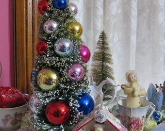 Beautiful Bottle Brush Tree-Decoration-10 inch