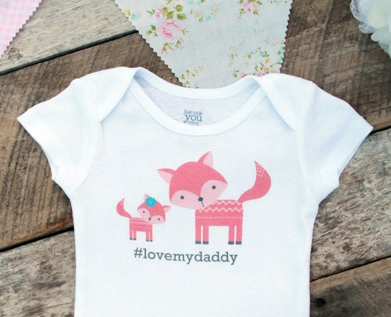 NEW Love My Daddy Onesies®, Baby Girl Onesie, Daddy and Daughter, Fox Onesie, Woodland Baby, New Dad, Cute Baby Clothes, Baby Outfit, Photo